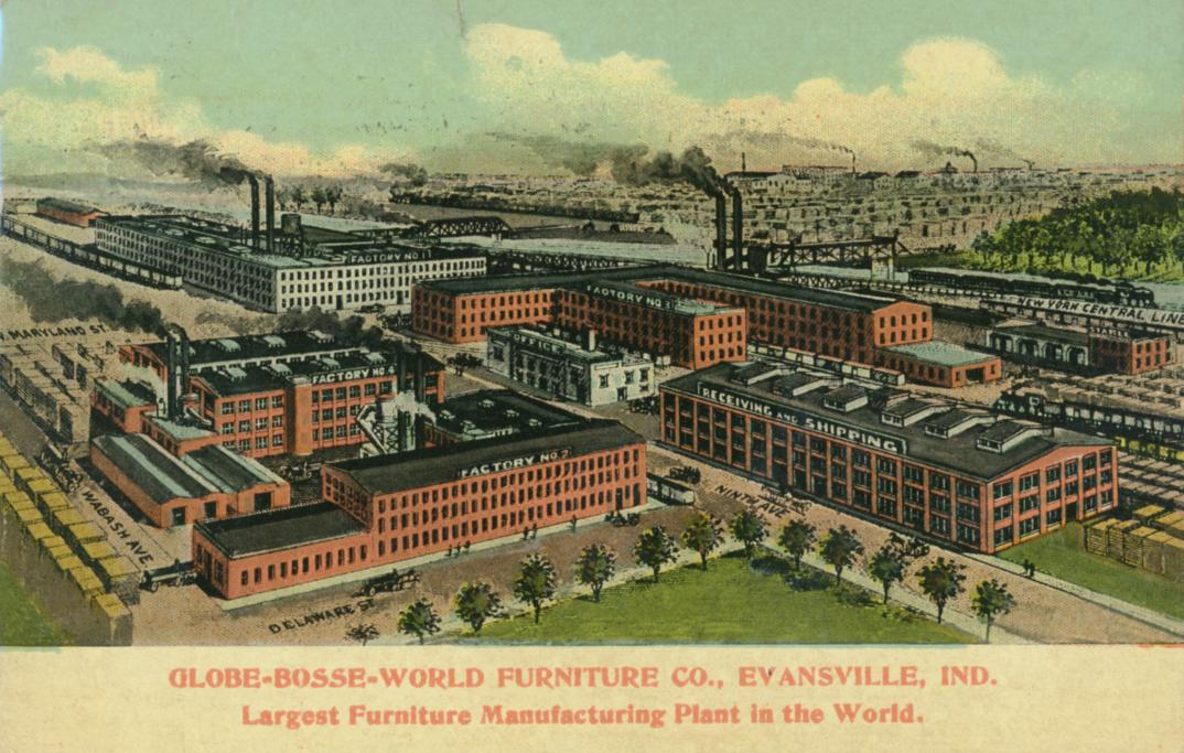 GlobeBosseWorld Furniture Vanderburgh County Historical Society