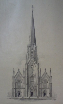 Sketch of Holy Trinity Catholic 1901