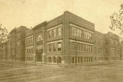 The new junior high school at 6th and Vine