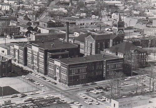 Aerial view of Old Central 1970