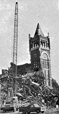 Demolition of the Old Central tower